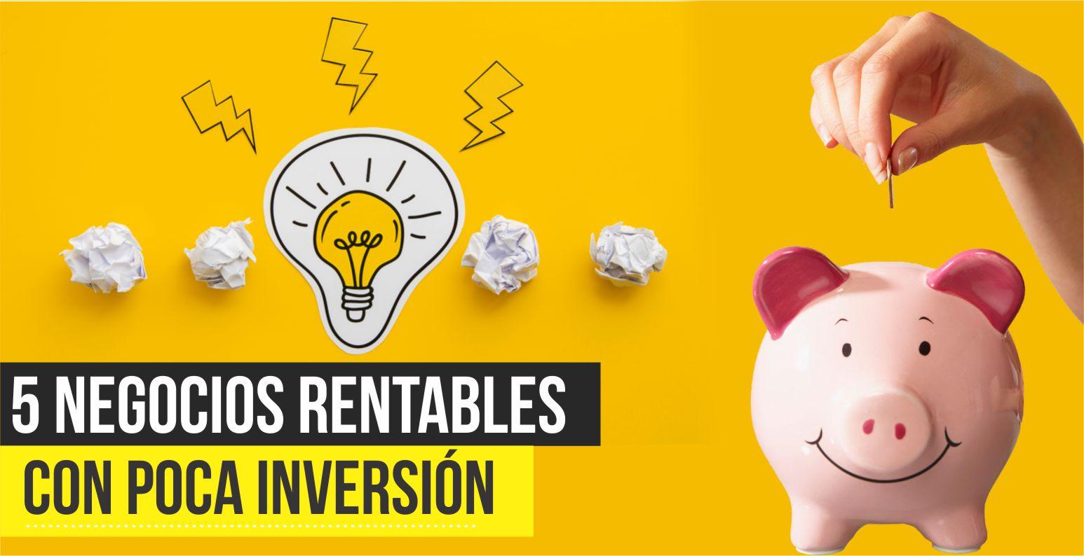 negocios rentables con poca inversión